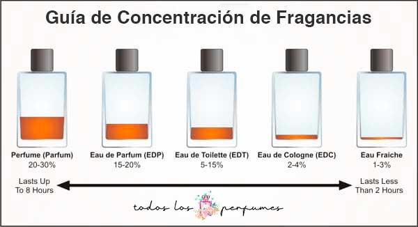 guia de concentración de fragancias - todos los perfumes